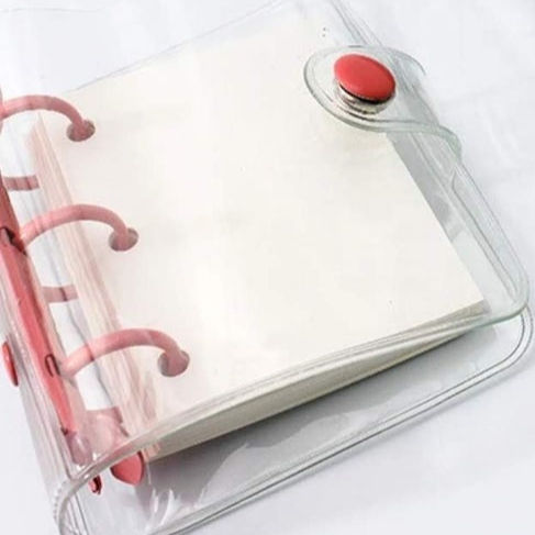 Refill Cover Journal Colors PVC Notebook Binder Diary Notebook PVC Custom 6 Rings Pvc,pu Leather Transparent Planner 15-35 Days