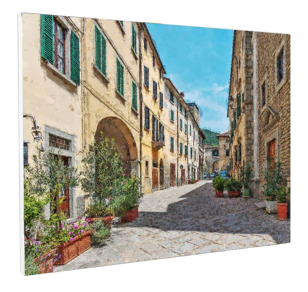 Landscape oil painting narrow street in the old town in Italy (130146000) for home decoration