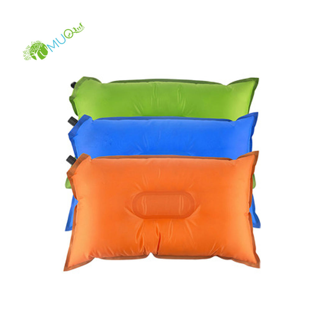 YumuQ Lightweight Portable Self Inflating Inflatable Travel Pillow for Outdoor Camping Hiking Travel