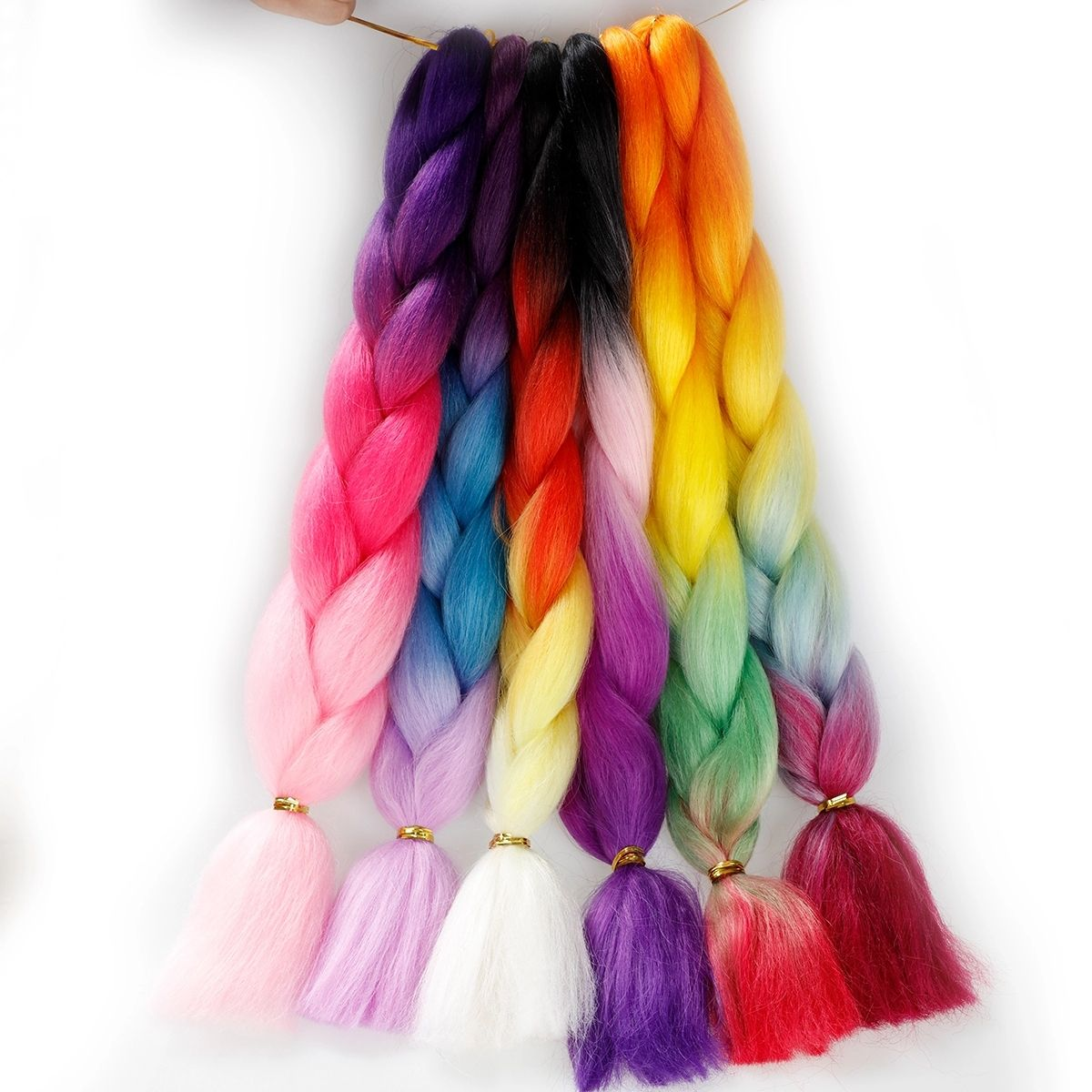 wholesale jumbo braiding hair colourful ombre afro hot water 84inch black african 26 braid hair extensions curly color braids