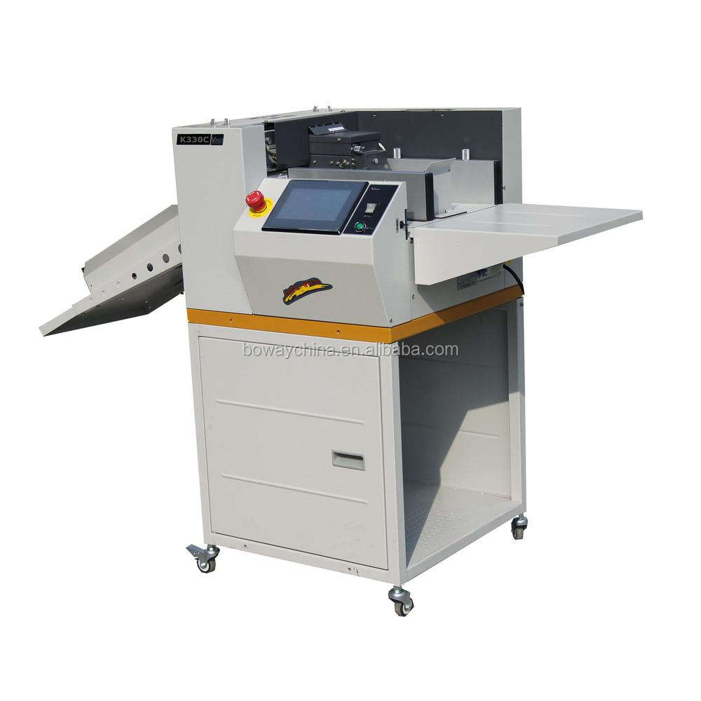 Boway Office Equipment K330C Full Automatic two sides Digital paper perforating creasing machine