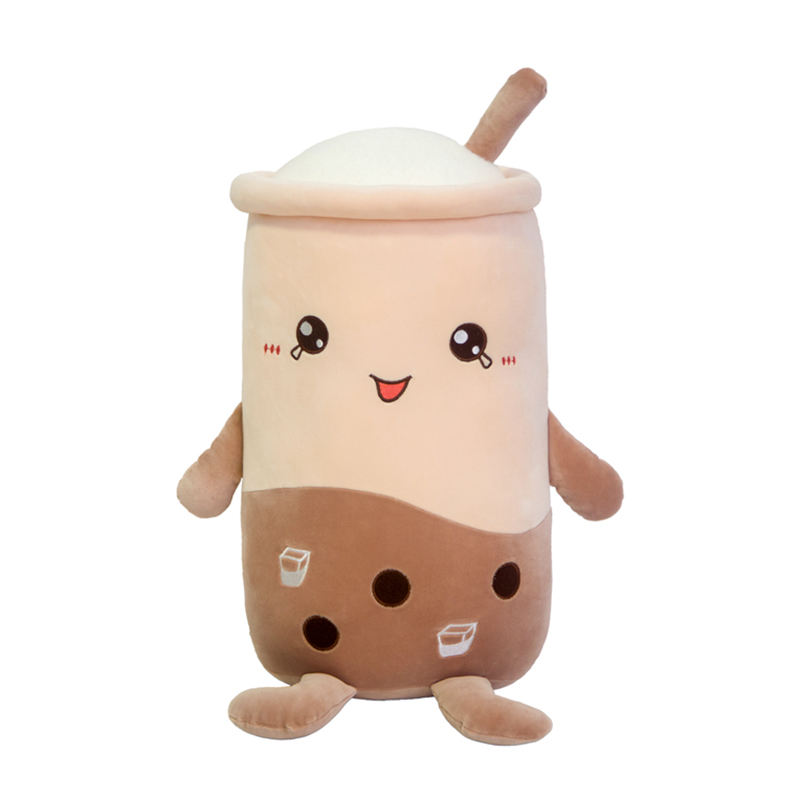 Wholesale Korea Japan Custom Plush soft Toy Lovely stuffed Milk Tea Cup Toys for girls gifts Home ornament