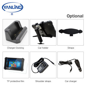 USB Port Android OS 10.1 inch rugged tablet pc support 1D 2D Barcode Scanner UHF RFID Reader