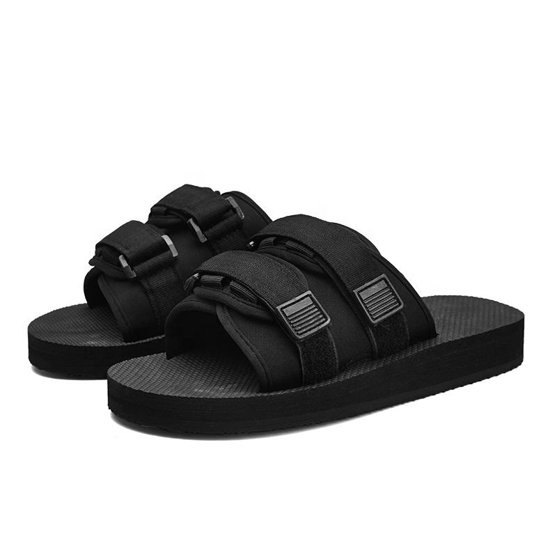 Wholesale outdoor soft material rubber eva summer men casual shoes sandals mens slide slipper.
