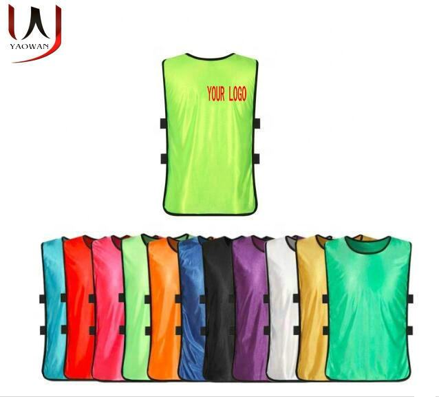 logo customized kids children youth adults soccer football training vest training bib practice scrimmage vest pennies jersey