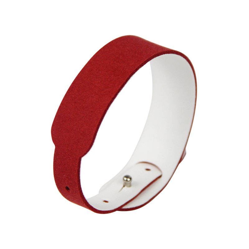 High Quality Skin-friendly Wristband Programmable RFID Leather Wrap NFC Bracelet for Women