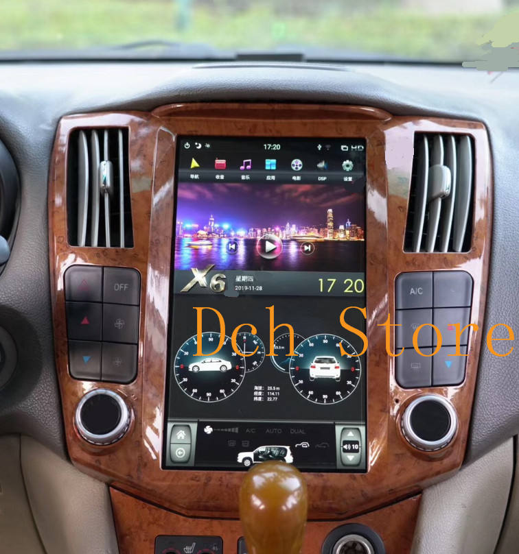 11.8 inch Vertical tesla style Android 9.0 Car DVD radio GPS PLAYER for LEXUS RX RX300 RX350 RX400 2004-2007 navigation CARPLAY
