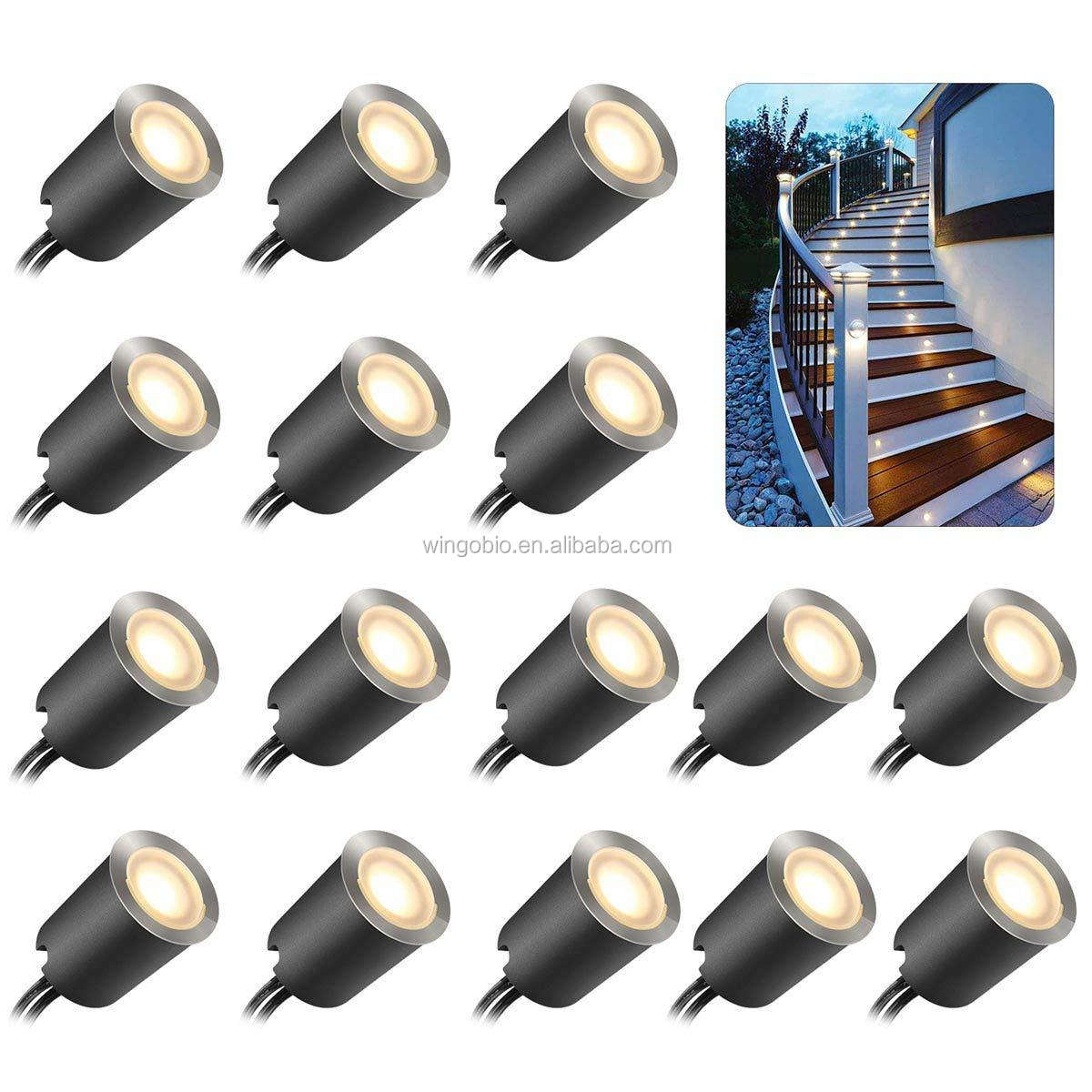 Dankers 16pcs LED Deklicht Kits 32mm SMY LED IP67 Waterdichte 12V Laagspanning In Ground Outdoor patio Landschap Verlichting