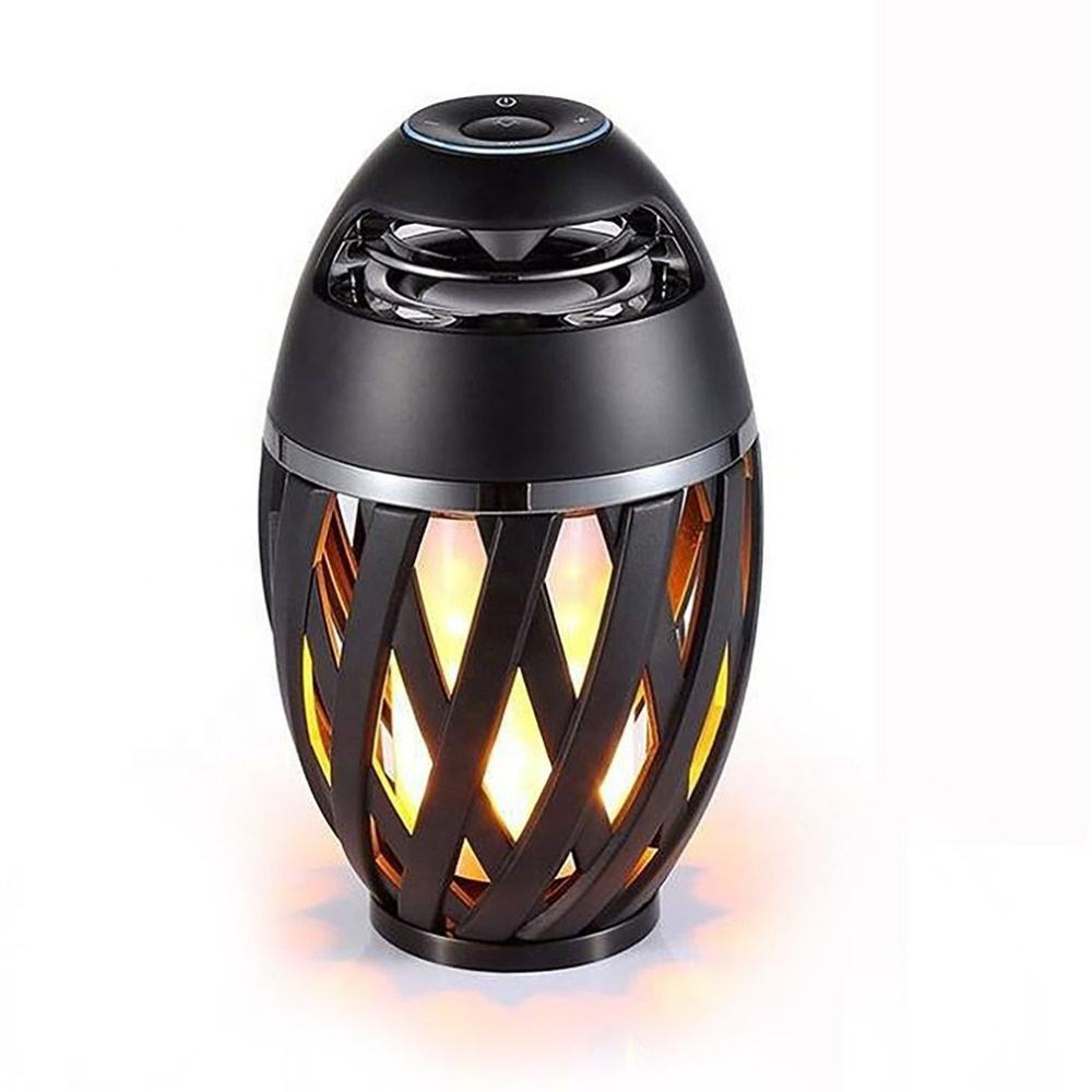 USB Charge Wireless Bluetooth Speaker WIth Flame LED Lamps Small Outdoor Flame Atmosphere Light for Camping Desktop