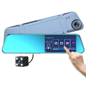 NEW double camera hd dvr 5.2 inch HD dual lens car dvr rear view camera car rearview mirror