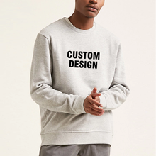 Custom hoodie men cotton white crewneck sweater casual design blank with printing