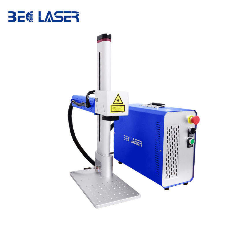 Autofucus motorized mini distributor 20w 30w 50w 100w JPT Raycus IPG portable fiber laser marking machine for metal materials