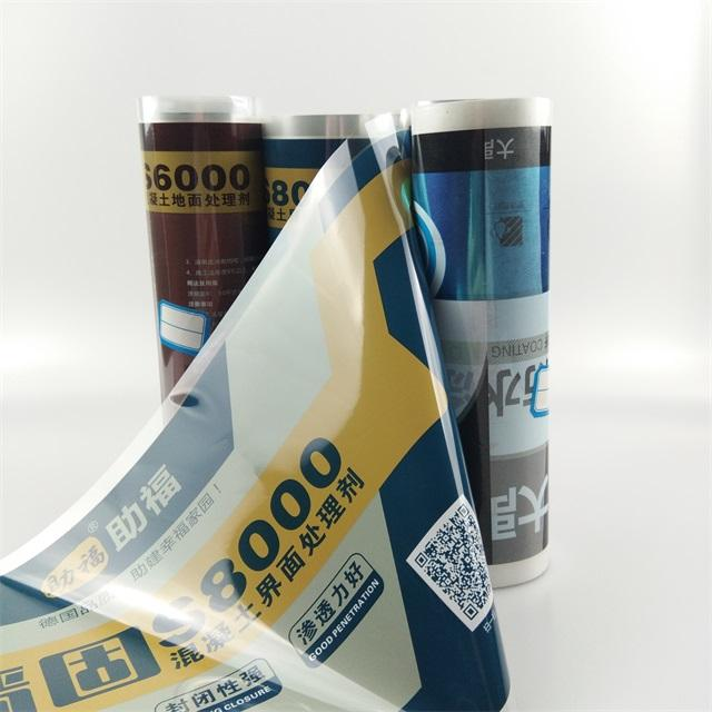 TH Factory Custom Design Heat Transfer Film Packing Label Foil Roll Transfer For Plastic Buckets With Shinning Effect