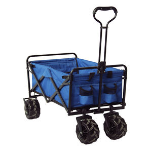 Portable 4 Wheels Storage Basket Garden Beach Trolley Folding Camping Wagon