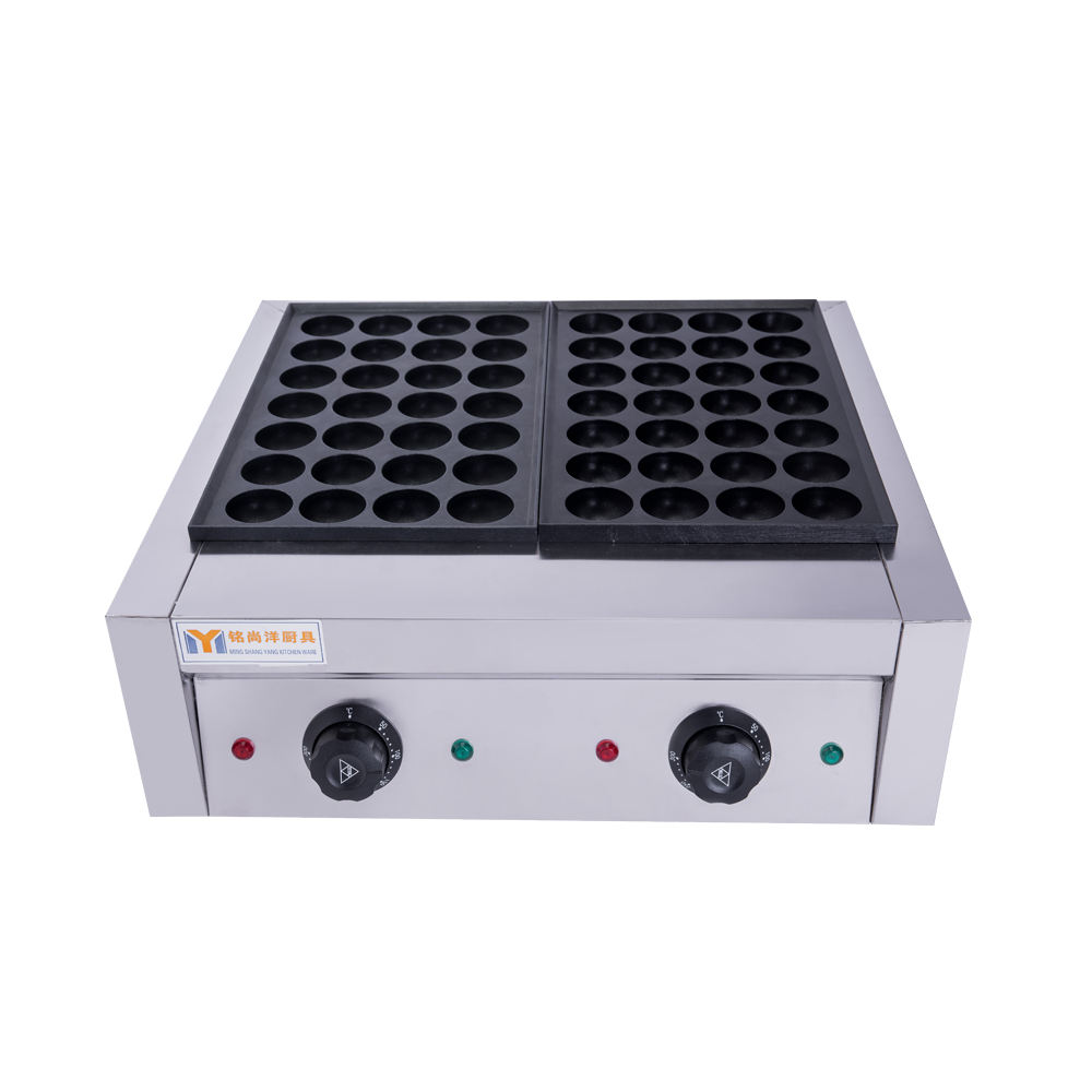 Saving energy electric fish grill equipment or fishball barbecue oven for sale octopus balls oven