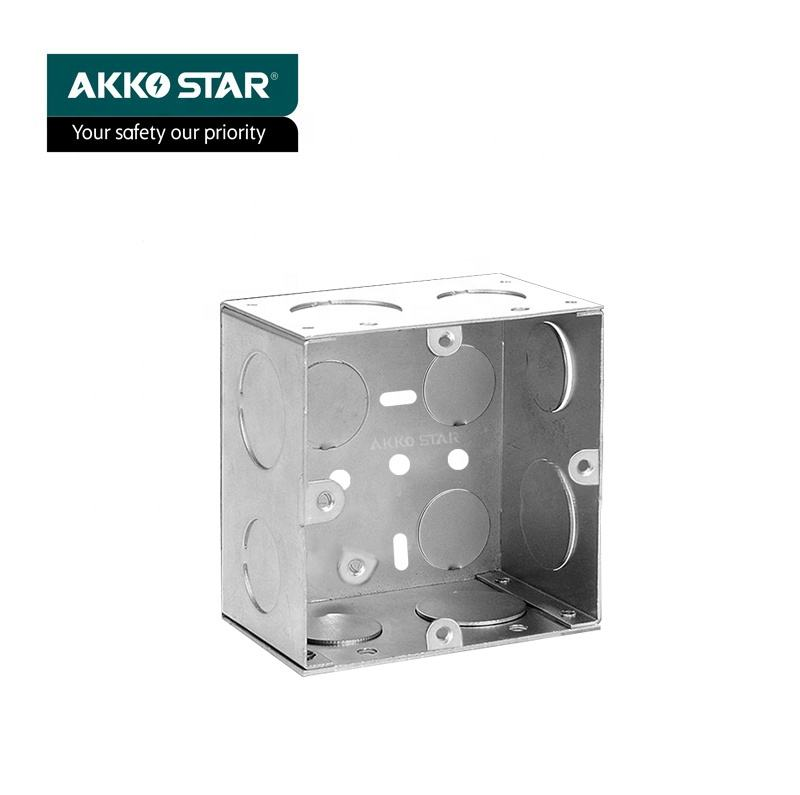 AKKOSTAR 0.9MM Slim Electrical Conduit Wall Junction Box Iron Box