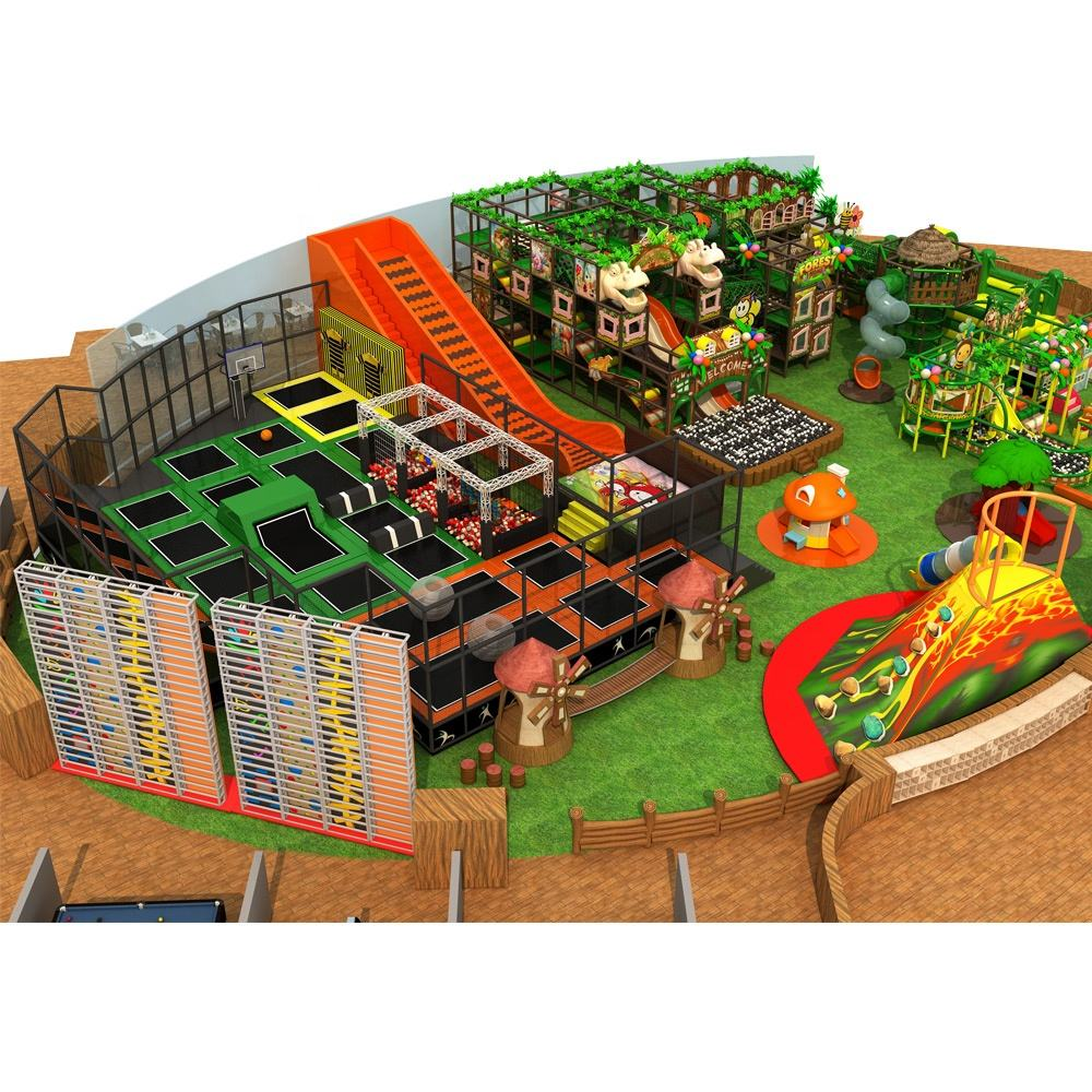 children modern indoor play playground equipment nature theme