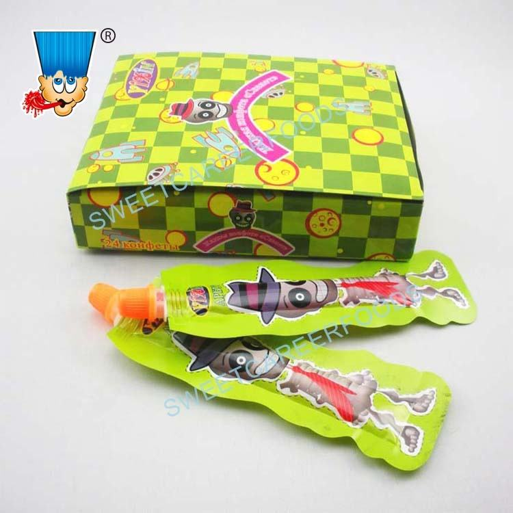 Bone Skeleton Fruit Jam Liquid Jelly Gel Candy Sweets