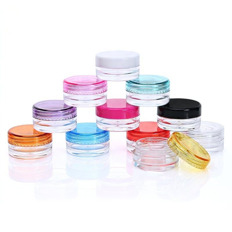 Plastic small makeup face eye cream jar container 3g 5g cosmetic sample packaging