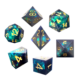 Dnd Dice With Sparkling Black Colored Gold Number Polyhedral Gemstone Dice Set 7 Pieces For Adult Games Dungeons And Dragons D&D
