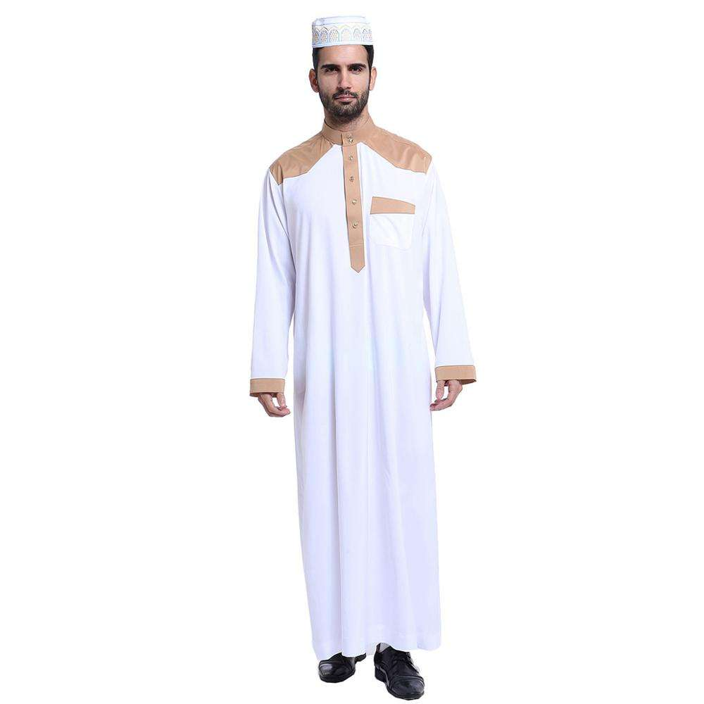 2020 high quality traditional arabic standing collar Muslim islamic clothing men's jubah thobe long dress
