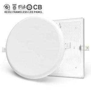 Super luminoso OEM intelligente dimmerabile rohs ip44 ultra sottile da incasso montato superficie frameless rotondo ha condotto la luce di pannello 18w del soffitto prezzo