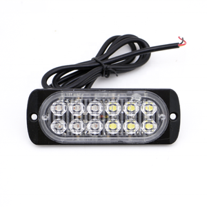24v amber white Red blue light security car led strobe warning light