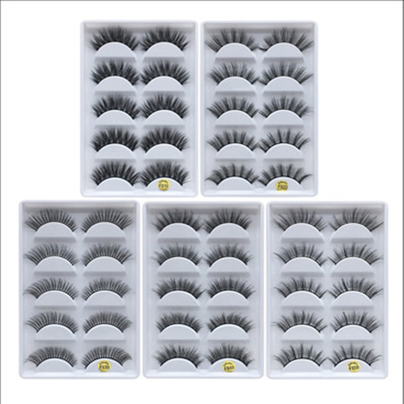 5 Paris 3D Natural and Vivid Mink Eyelashes Packaging Box Eyelashes
