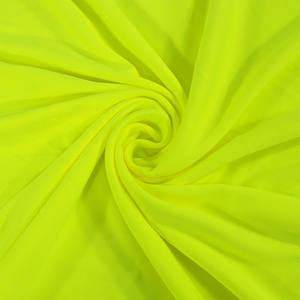 hot sale fluorescent high visibility reflective 100%polyester soft breathable knitted double-sided fabric