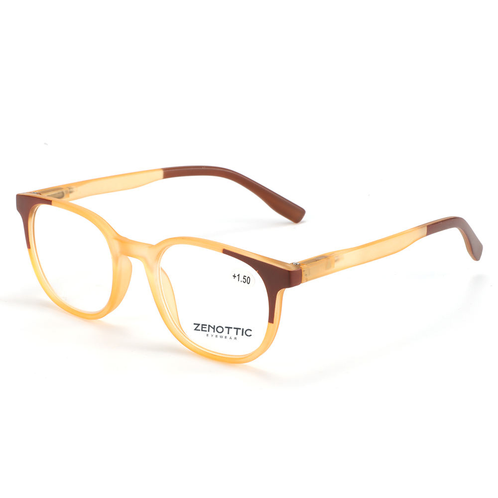 Zenottic Brand Unisex PC Rectangle Transparent Color Frames Spring Strings Reading Glasses Eyewear
