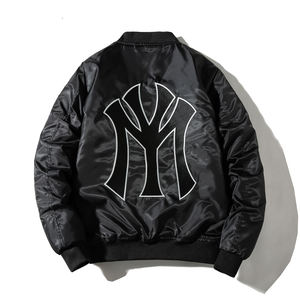 plain waterproof polyester embroider bomber Men'S fashion Jacket