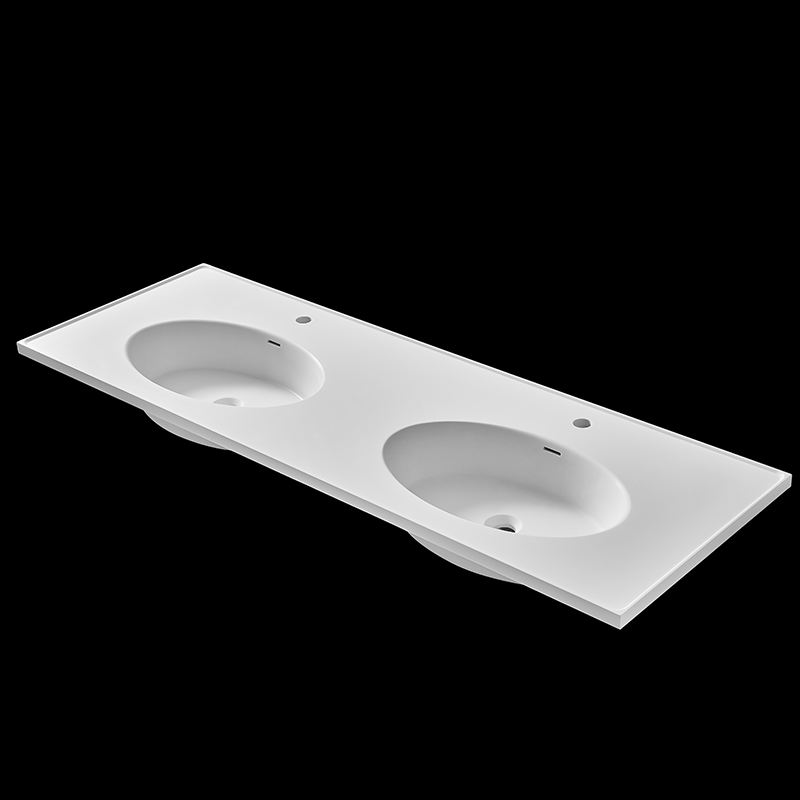 Wall Hung Wash Hand Bathroom Stone Cabinet Basin Sink with shelves for towel