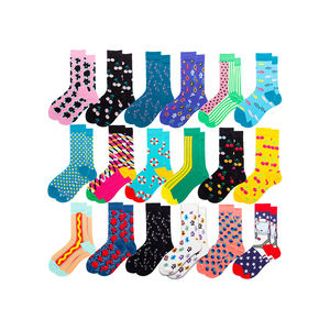 Wholesale Happy Custom Colorful Jacquard sox Design socks in box bamboo cotton Man Dress happy Socks