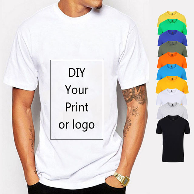 Free samples Plain plus size men's t-shirt for men 100% cotton,custom oversized men tshirts ,White Blank mens custom t shirt
