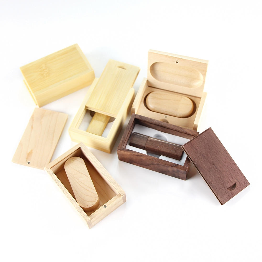 Wooden Flash Usb-Stick Drive with Packaging Box Case Mini Micro USB Pendrive 32GB
