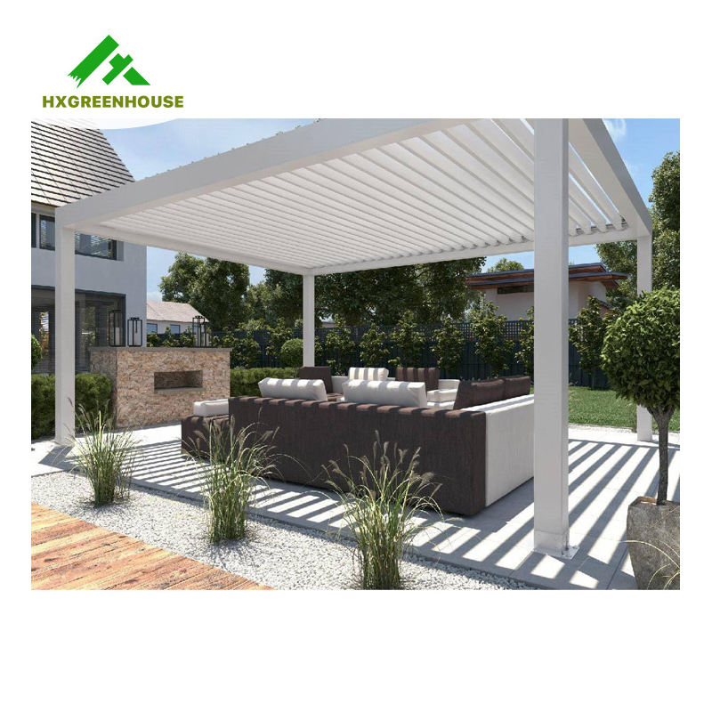 High quality modern outdoor metal balcony bioclimatic pergola