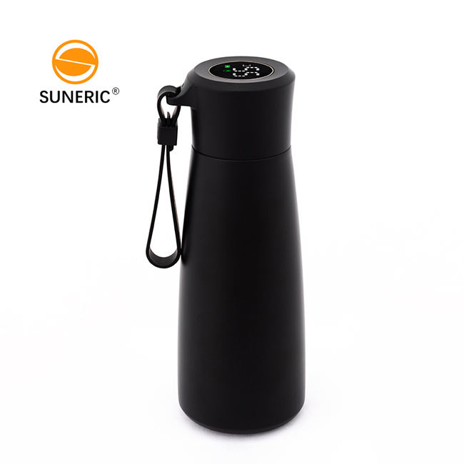 Water reminder thermos vacuum flask coffee cup bottle glow remind cap smart thermos cup