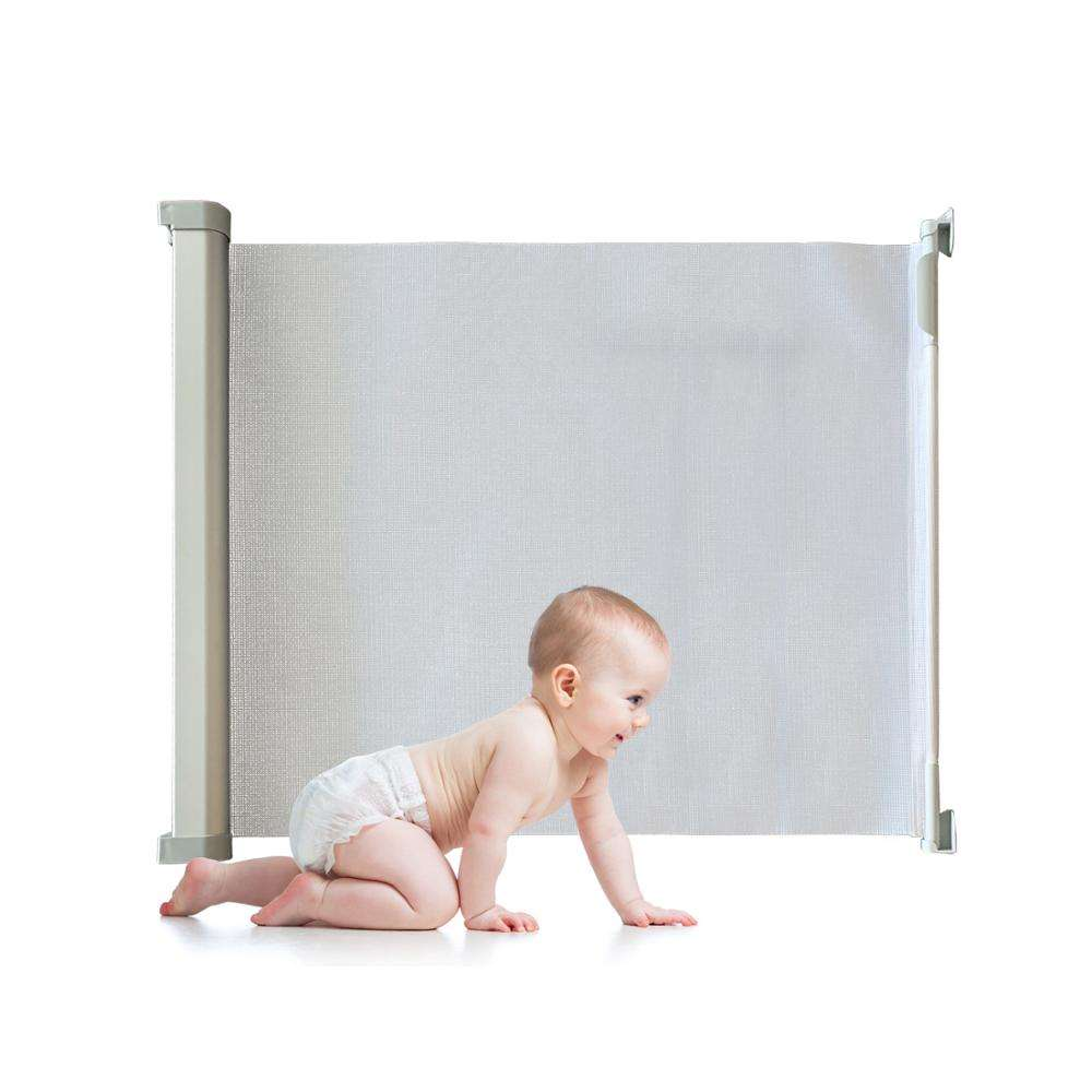 Retractable Stair Gate Baby Gate, Meinkind Safety Gate Stair Gates for Baby Children, Large Wide Retractable Pet Gate