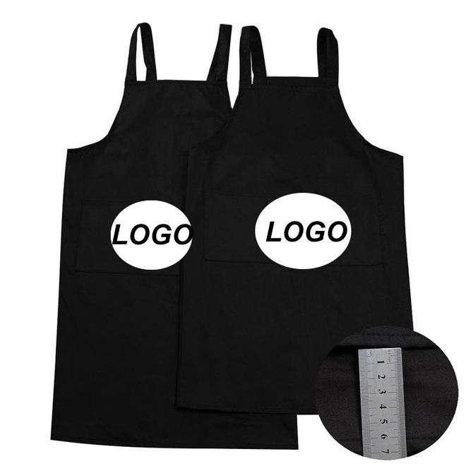 factory direct 100% cotton kitchen apron with logo custom