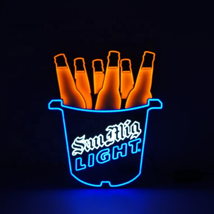 Dynamic Light Fffects Leuchtreklame Led Neon Sign Custom Acrylic Backplate
