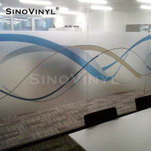 SINOVINYL Removable Decoration Frosted Matt Transparent Glass Window Film