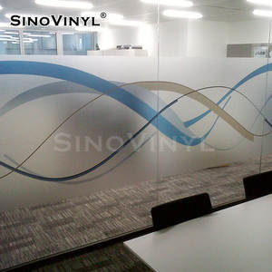 Sinovinyl Verwijderbare Decoratie Frosted Matt Transparant Glas Window Film