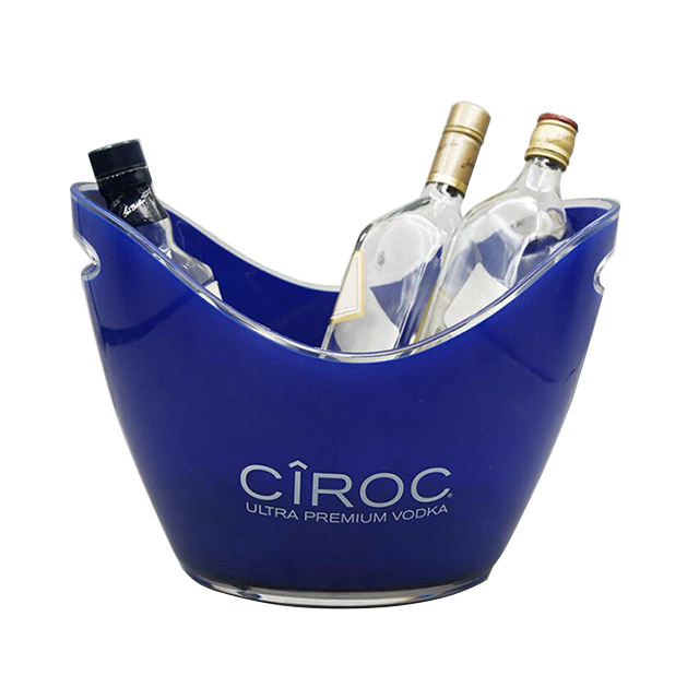 High quality 4L 8L 12L boat shape wine beer plastic ice bucket for bar wholesale