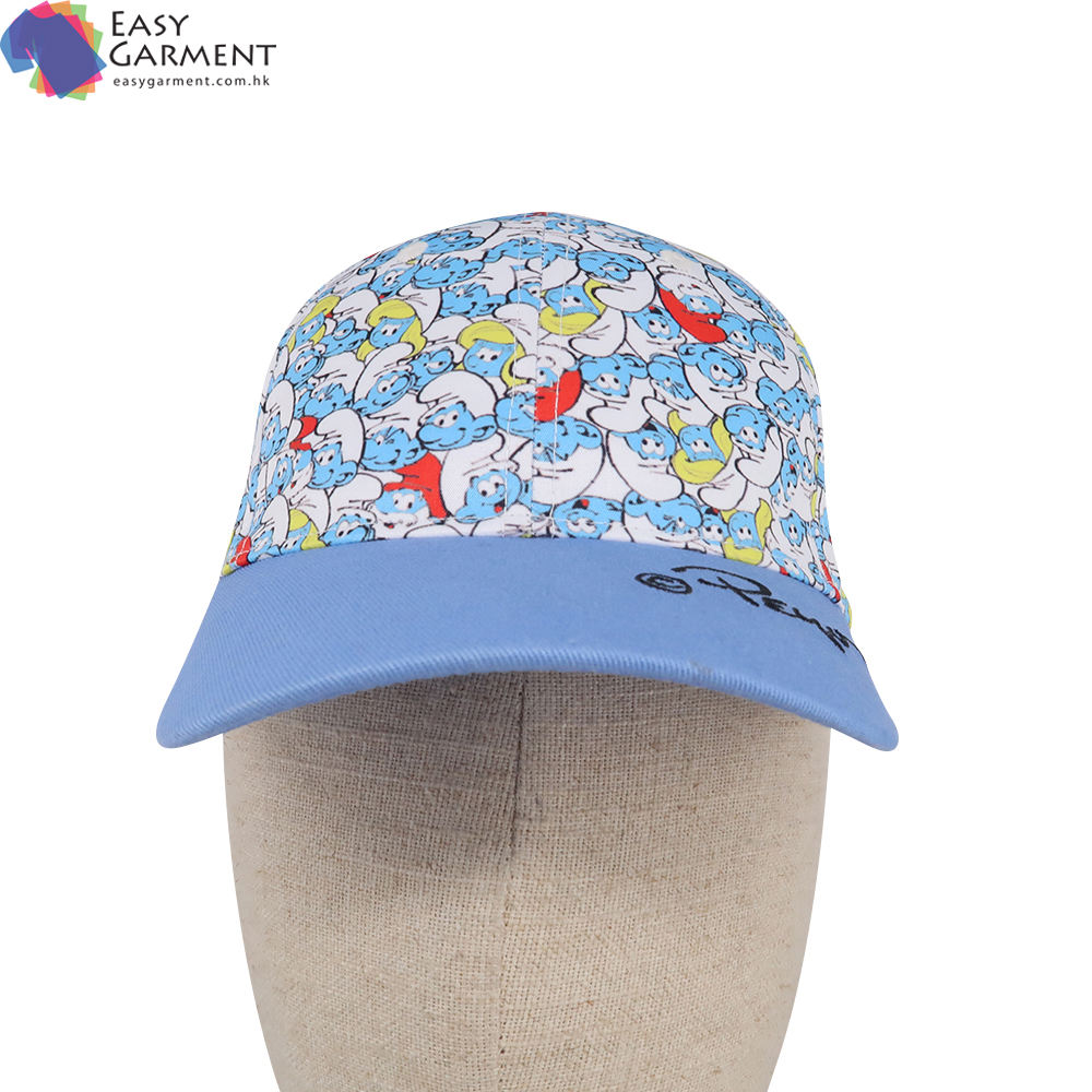 Hot Selling Promotional 3D Embroidered Two Color Tone blue 6 Panel baseball cap hat for Campaign