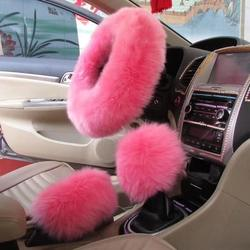 Fluffy Sheepskin Fur Steering Wheel Cover for Adults Woman M