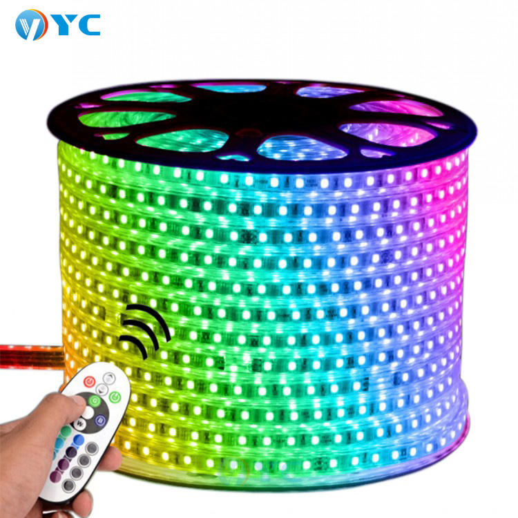 wholesale smd5050 waterproof led light strip color changeable flexible 220v 14.4w led strip light