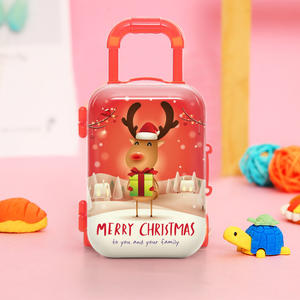 Hot sale 2020 Christmas design lash gift box 3D mink eyelash style packaging gift box lashese with case