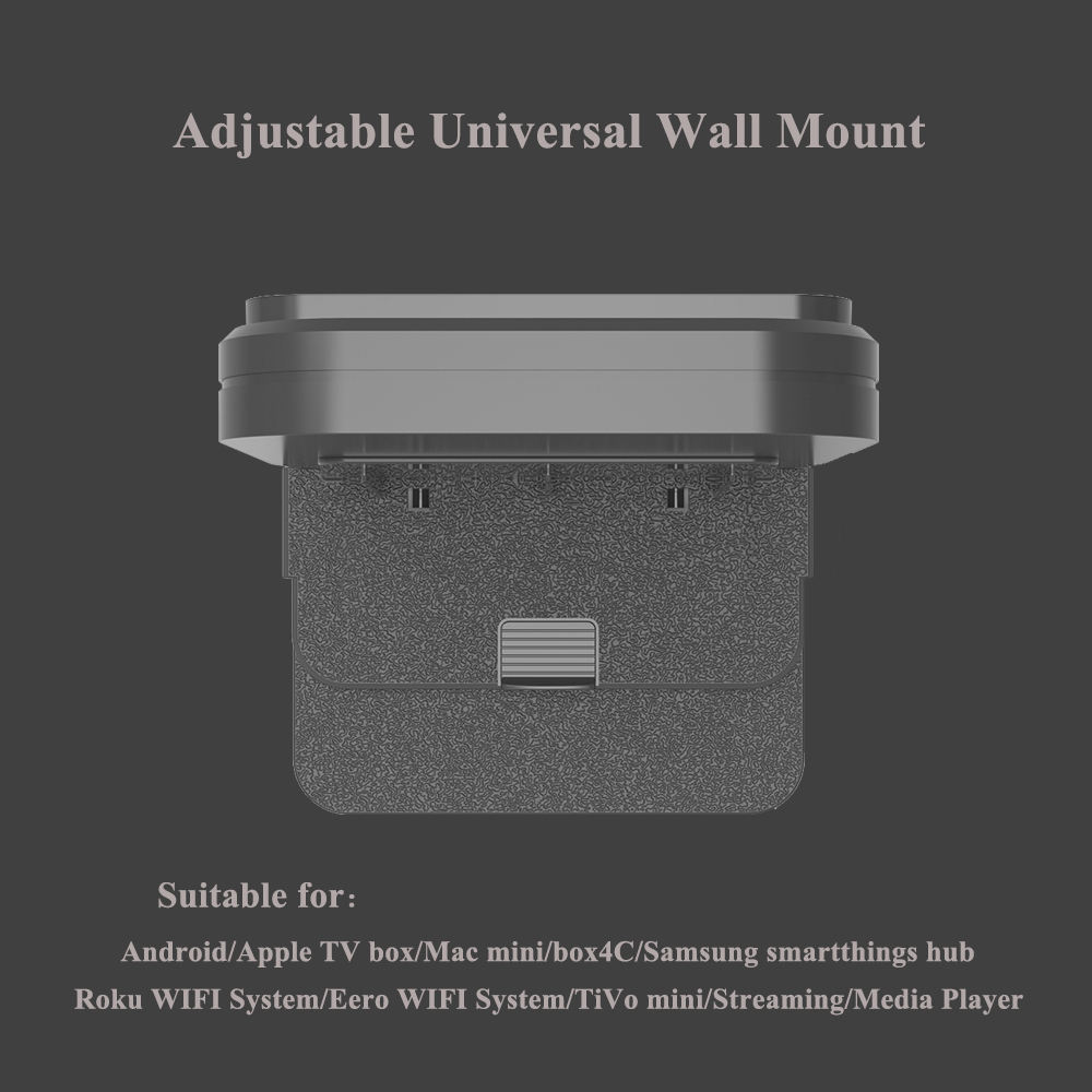 Wall Mount Holder Bracket for Apple TV Box roku ultra Android support router Modem Switch Streaming Media Devices Hard Driver