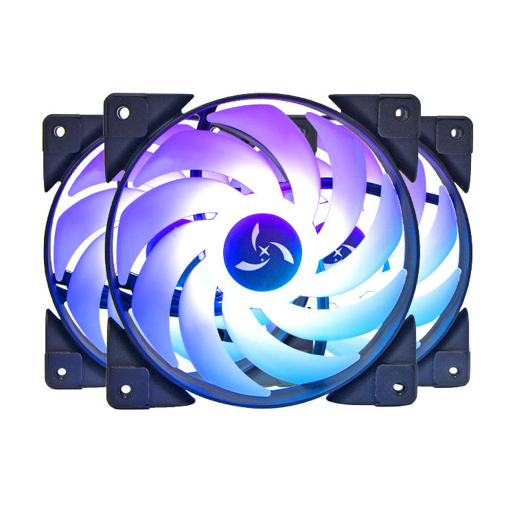 120ミリメートルHigh Speed 12 Volt DC Mini CPU Cooling 39 CFM 3PIN Colorful Light RGB Computer Fans Cooling Fan For PC