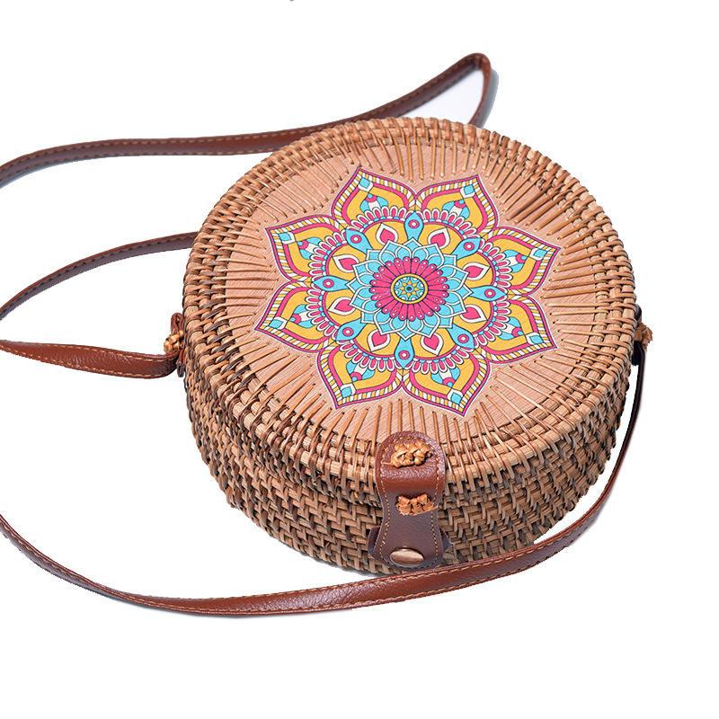 Moda praia do Verão sling saco mulheres artesanais rattan saco de embreagem